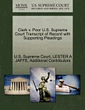 Clark V. Poor U.S. Supreme Court Transcript of Record with Supporting Pleadings