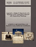 Ingenohl V. Walter E Olsen & Co U.S. Supreme Court Transcript of Record with Supporting Pleadings