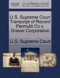 U.S. Supreme Court Transcript of Record Permutit Co V. Graver Corporation