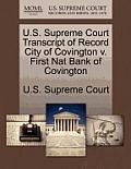 U.S. Supreme Court Transcript of Record City of Covington V. First Nat Bank of Covington