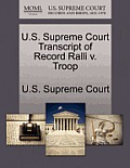 U.S. Supreme Court Transcript of Record Ralli V. Troop