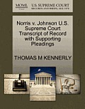 Norris V. Johnson U.S. Supreme Court Transcript of Record with Supporting Pleadings