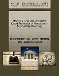 Hazlett V. U S U.S. Supreme Court Transcript of Record with Supporting Pleadings