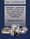 Robinson V. Seaboard Nat Bank of New York U.S. Supreme Court Transcript of Record with Supporting Pleadings