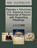 Ripinsky V. Hinchman U.S. Supreme Court Transcript of Record with Supporting Pleadings