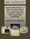 Cornell Steamboat Co V. State Industrial Board U.S. Supreme Court Transcript of Record with Supporting Pleadings