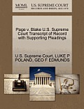 Page V. Blake U.S. Supreme Court Transcript of Record with Supporting Pleadings