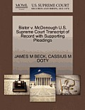 Bistor V. McDonough U.S. Supreme Court Transcript of Record with Supporting Pleadings