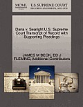 Dana V. Searight U.S. Supreme Court Transcript of Record with Supporting Pleadings