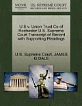 U S V. Union Trust Co of Rochester U.S. Supreme Court Transcript of Record with Supporting Pleadings