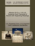 Wilshire Oil Co V. U S U.S. Supreme Court Transcript of Record with Supporting Pleadings