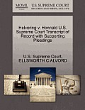 Helvering V. Honnald U.S. Supreme Court Transcript of Record with Supporting Pleadings