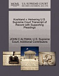 Koshland V. Helvering U.S. Supreme Court Transcript of Record with Supporting Pleadings