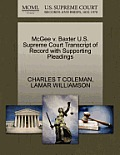 McGee V. Baxter U.S. Supreme Court Transcript of Record with Supporting Pleadings