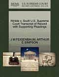 Winkle V. Scott U.S. Supreme Court Transcript of Record with Supporting Pleadings