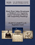 Black River Valley Broadcasts V. McNinch U.S. Supreme Court Transcript of Record with Supporting Pleadings
