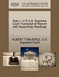 Doty V. U S U.S. Supreme Court Transcript of Record with Supporting Pleadings
