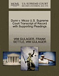 Dunn V. Micco U.S. Supreme Court Transcript of Record with Supporting Pleadings