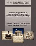 Barrett V. Morgenthau U.S. Supreme Court Transcript of Record with Supporting Pleadings