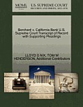 Borchard V. California Bank U.S. Supreme Court Transcript of Record with Supporting Pleadings