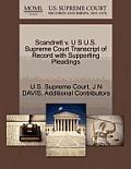 Scandrett V. U S U.S. Supreme Court Transcript of Record with Supporting Pleadings