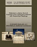 Waterman V. Aakre, the U.S. Supreme Court Transcript of Record with Supporting Pleadings
