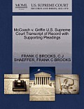 McCoach V. Griffin U.S. Supreme Court Transcript of Record with Supporting Pleadings