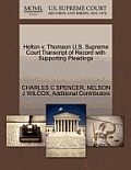 Helton V. Thomson U.S. Supreme Court Transcript of Record with Supporting Pleadings