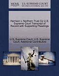 Harrison V. Northern Trust Co U.S. Supreme Court Transcript of Record with Supporting Pleadings