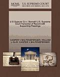 U S Gypsum Co V. Stornelli U.S. Supreme Court Transcript of Record with Supporting Pleadings