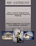 Kann V. U S U.S. Supreme Court Transcript of Record with Supporting Pleadings