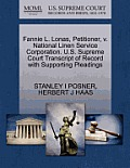 Fannie L. Lonas, Petitioner, V. National Linen Service Corporation. U.S. Supreme Court Transcript of Record with Supporting Pleadings