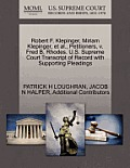 Robert F. Klepinger, Miriam Klepinger, et al., Petitioners, V. Fred B. Rhodes. U.S. Supreme Court Transcript of Record with Supporting Pleadings
