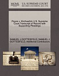 Payne V. Kirchwehm U.S. Supreme Court Transcript of Record with Supporting Pleadings