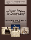 Kammerer Corp. V. McCullough U.S. Supreme Court Transcript of Record with Supporting Pleadings