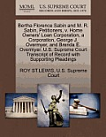 Bertha Florence Sabin and M. R. Sabin, Petitioners, V. Home Owners' Loan Corporation, a Corporation, George J. Overmyer, and Brenda E. Overmyer. U.S.
