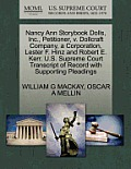 Nancy Ann Storybook Dolls, Inc., Petitioner, V. Dollcraft Company, a Corporation, Lester F. Hinz and Robert E. Kerr. U.S. Supreme Court Transcript of