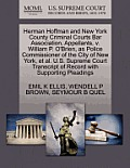Herman Hoffman and New York County Criminal Courts Bar Association, Appellants, V. William P. O'Brien, as Police Commissioner of the City of New York,