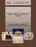 Johnston V. McIntee U.S. Supreme Court Transcript of Record with Supporting Pleadings