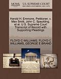 Harold H. Emmons, Petitioner, V. Max Smitt, John C. Spaulding, et al. U.S. Supreme Court Transcript of Record with Supporting Pleadings