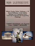 William Dudley Pelley, Petitioner, V. W. Bruce Matthews, United States Marshai. U.S. Supreme Court Transcript of Record with Supporting Pleadings