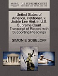 United States of America, Petitioner, V. Jackie Lee Hinkle. U.S. Supreme Court Transcript of Record with Supporting Pleadings
