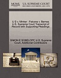U S V. Minker: Falcone V. Barnes U.S. Supreme Court Transcript of Record with Supporting Pleadings