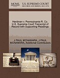 Herdman V. Pennsylvania R. Co. U.S. Supreme Court Transcript of Record with Supporting Pleadings