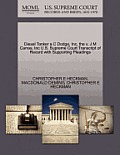 Diesel Tanker A C Dodge, Inc, the V. J M Carras, Inc U.S. Supreme Court Transcript of Record with Supporting Pleadings
