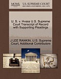 U. S. V. Hvass U.S. Supreme Court Transcript of Record with Supporting Pleadings
