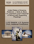 United States of America, Petitioner, V. Molly G. Bess. U.S. Supreme Court Transcript of Record with Supporting Pleadings