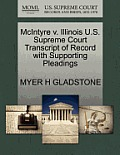 McIntyre V. Illinois U.S. Supreme Court Transcript of Record with Supporting Pleadings