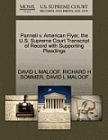 Pannell V. American Flyer, the U.S. Supreme Court Transcript of Record with Supporting Pleadings