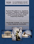 Abraham Braunfeld et al., Appellants, V. Thomas J. Gibbons, Commissioner of Police of the City of U.S. Supreme Court Transcript of Record with Support